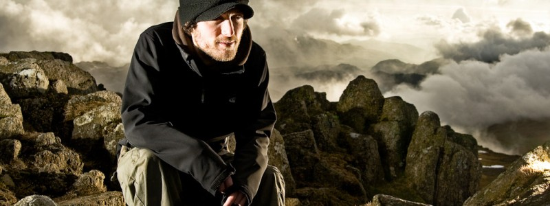 Chris on Crinkle Crags