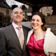 Castle Combe Wedding Photography - Hazel and David in the town square
