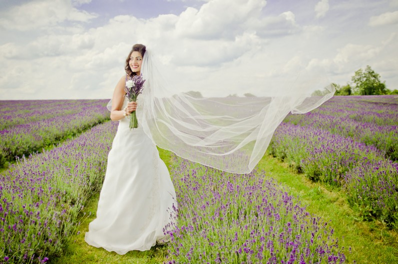 Bride in the Lavender - Bristol Wedding Photographer