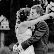 Tortworth Court Wedding Photography - Bride + Groom Kissing