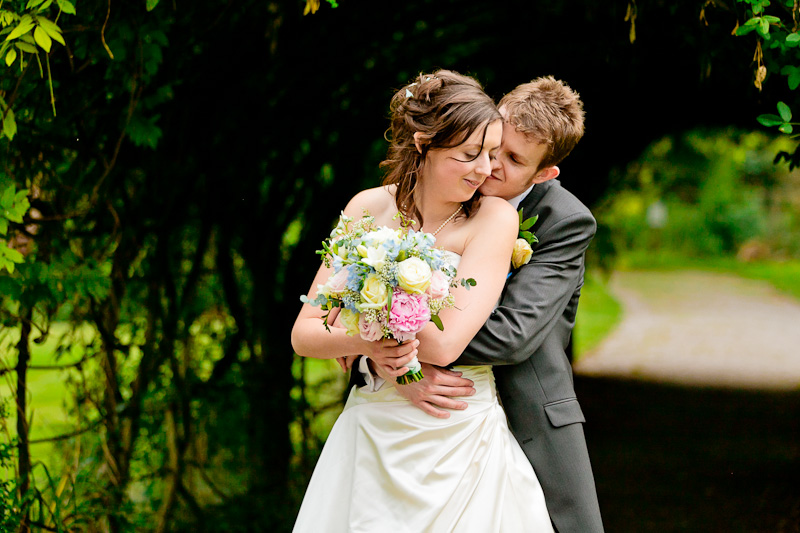 Bristol Wedding Photographer - Bride + Groom Cuddling